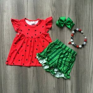 Other - Girls Watermelon Short set